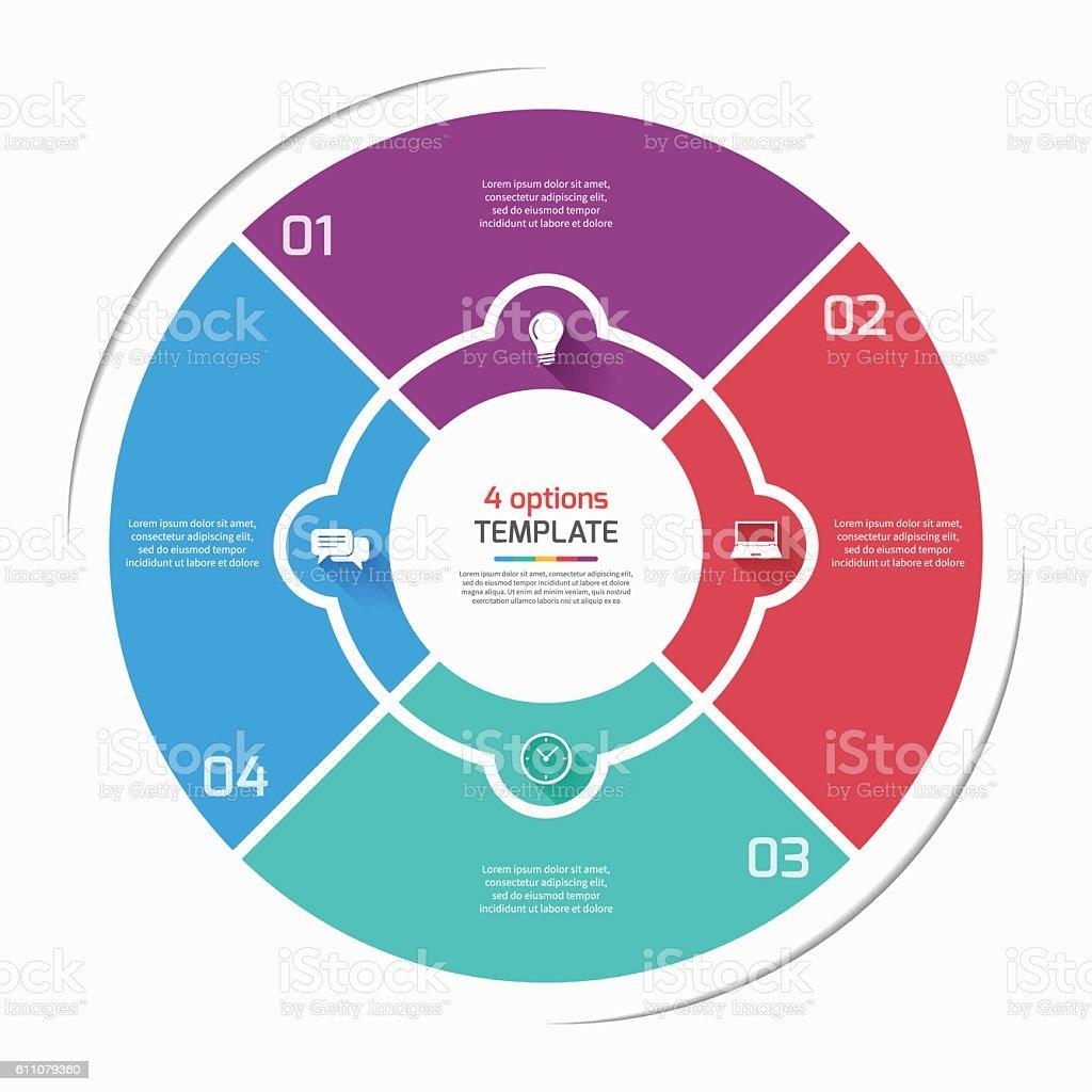Flat style pie chart circle infographic template with 4 options flat style pie chart circle infographic template with 4 options royalty free flat style nvjuhfo Images