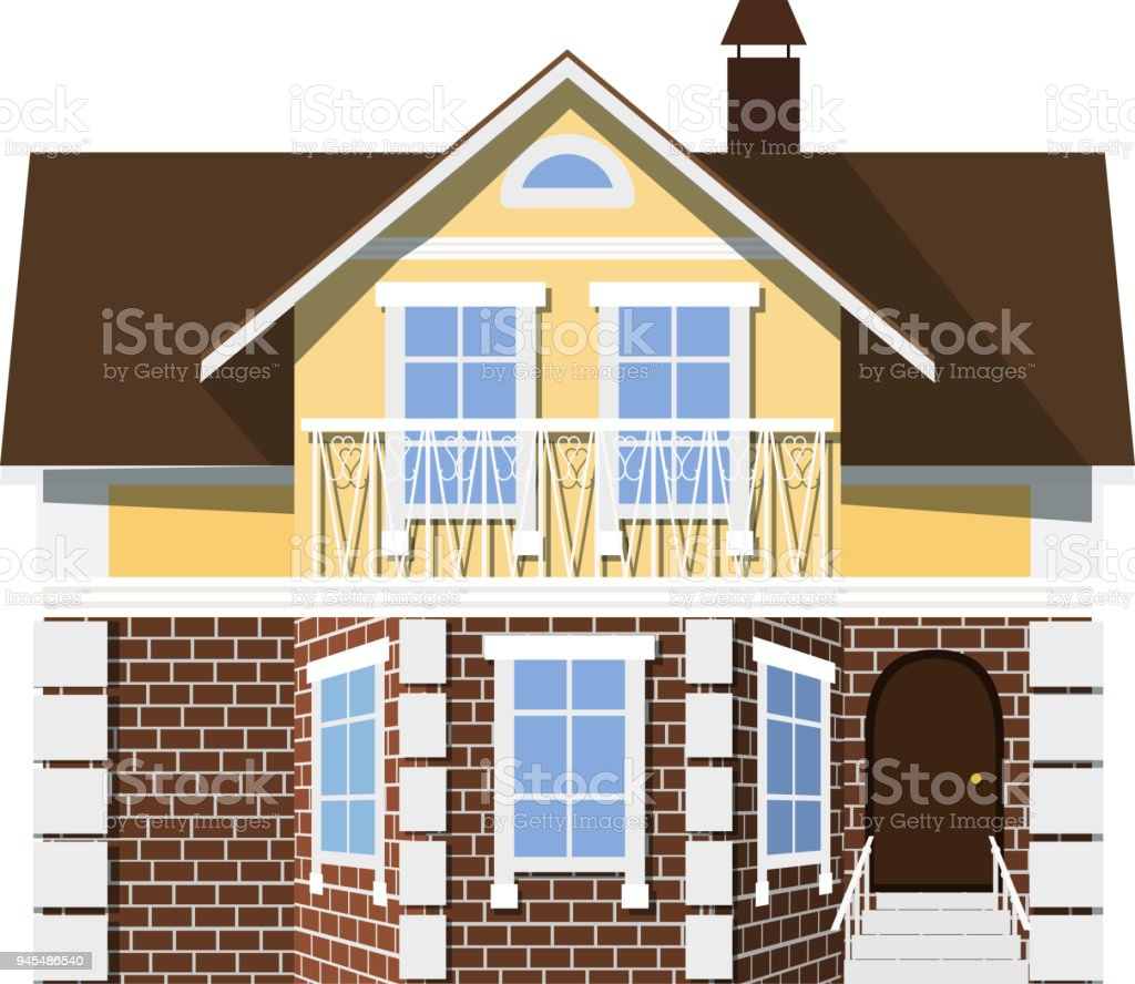 Small Beautiful Two Storey House With Bay Window On A