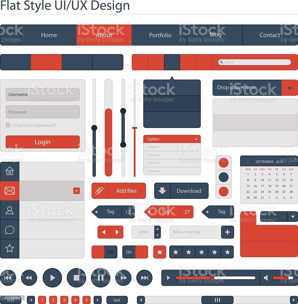 Flat style UI/UX design vector art illustration