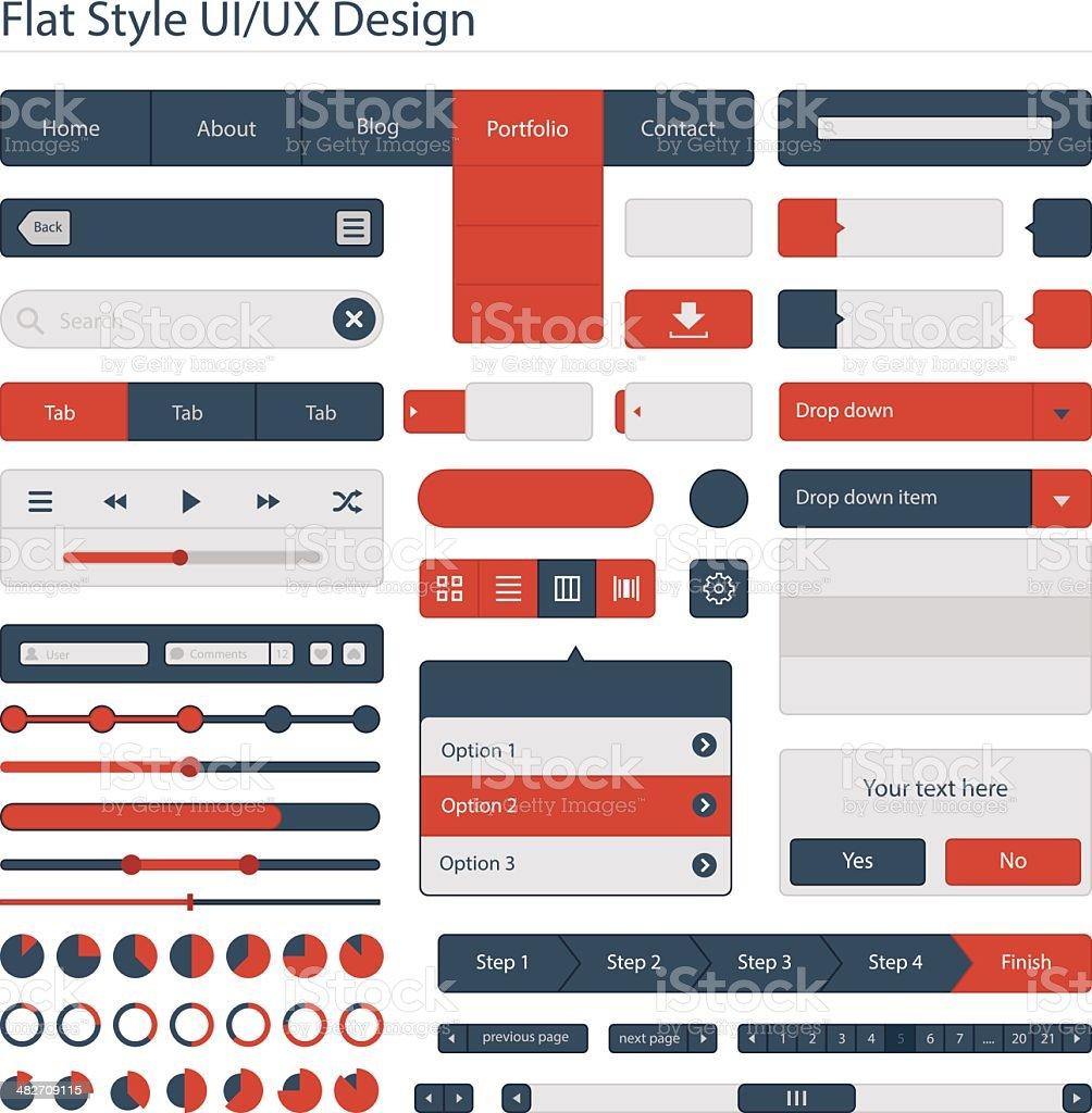 UI plana e estilo de design UX - ilustração de arte em vetor