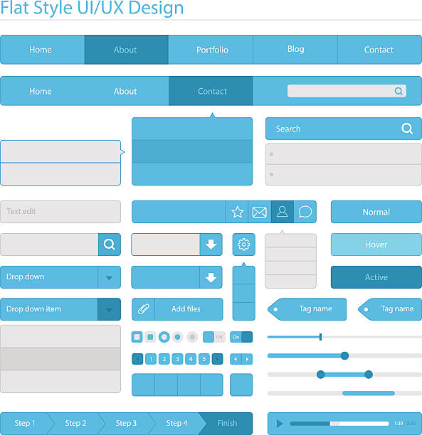 Plate UI UX design et style - Illustration vectorielle