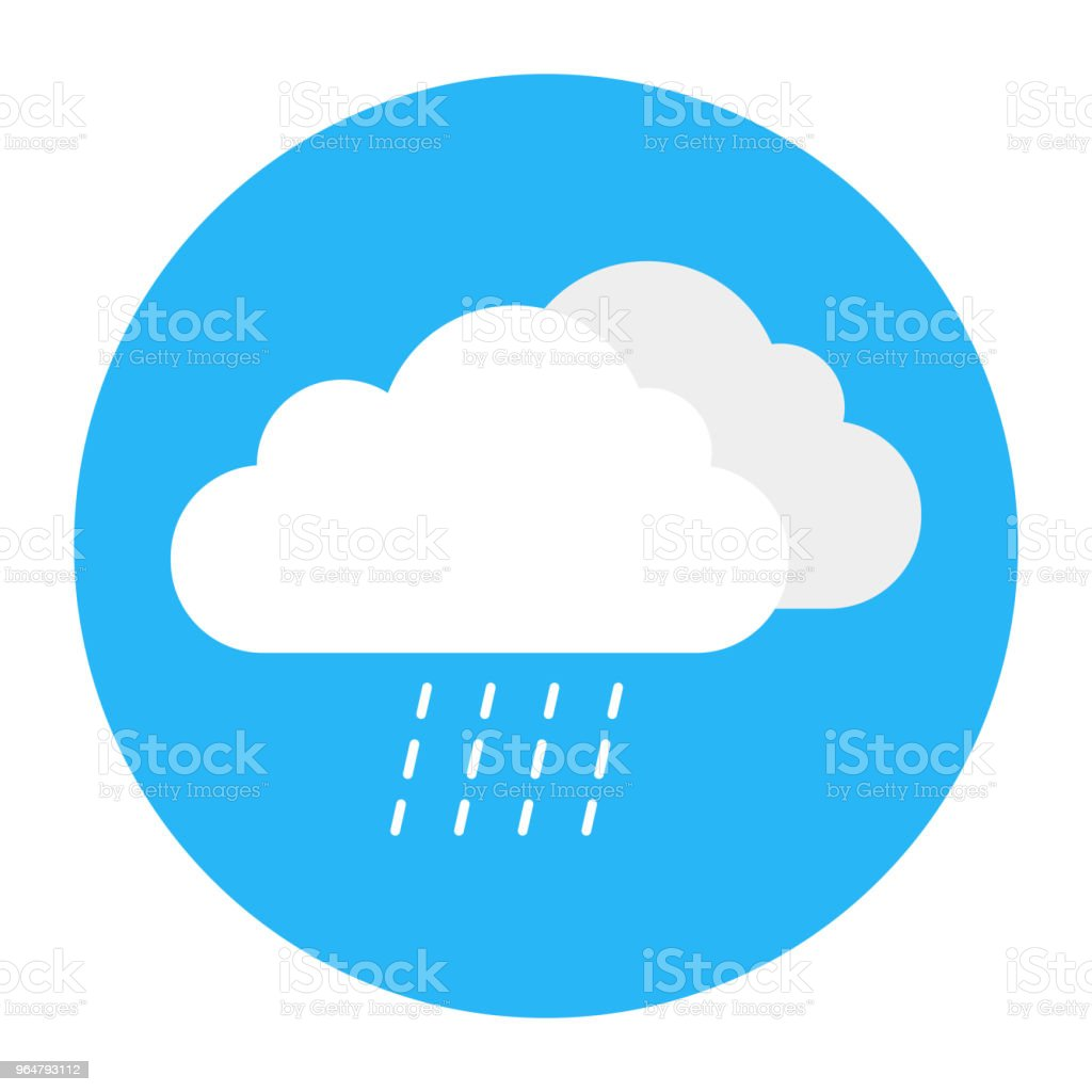 Flat style weather icon - clouds royalty-free flat style weather icon clouds stock vector art & more images of abstract
