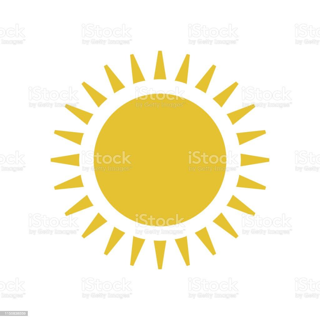 Flat sun icon. royalty-free flat sun icon stock illustration - download image now
