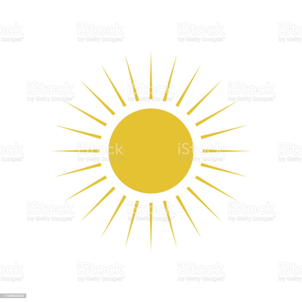 Flat sun icon. royalty-free flat sun icon stock illustration - download image now