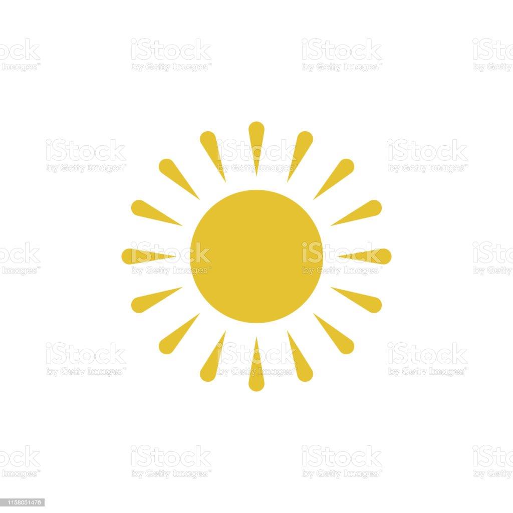 Flat sun icon. Sun pictogram. Trendy vector summer symbol for website...