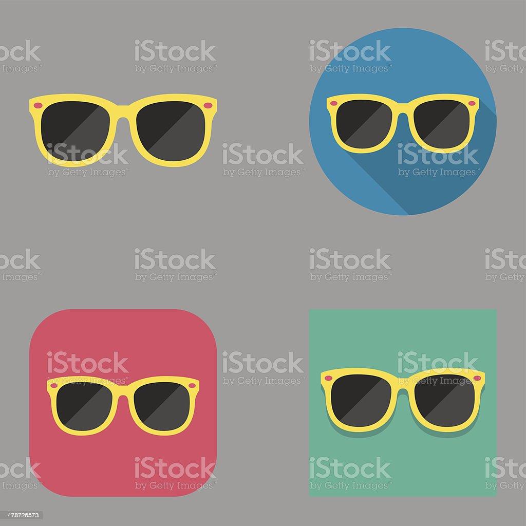 Flat Sunglasses icons   Kalaful series vector art illustration