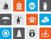 Flat Surveillance and Security Icons