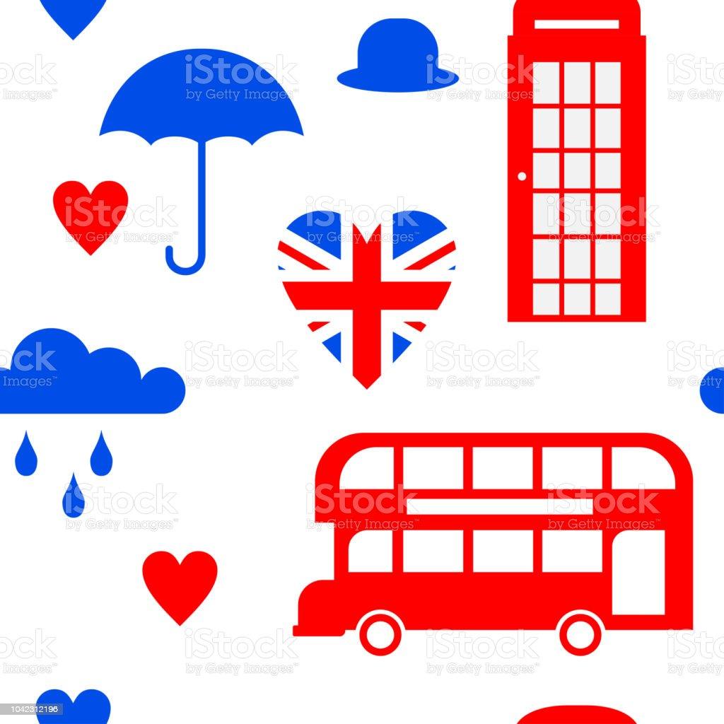 Ilustración de Símbolo Plano Reino Unido Londres Viajes Icono ...