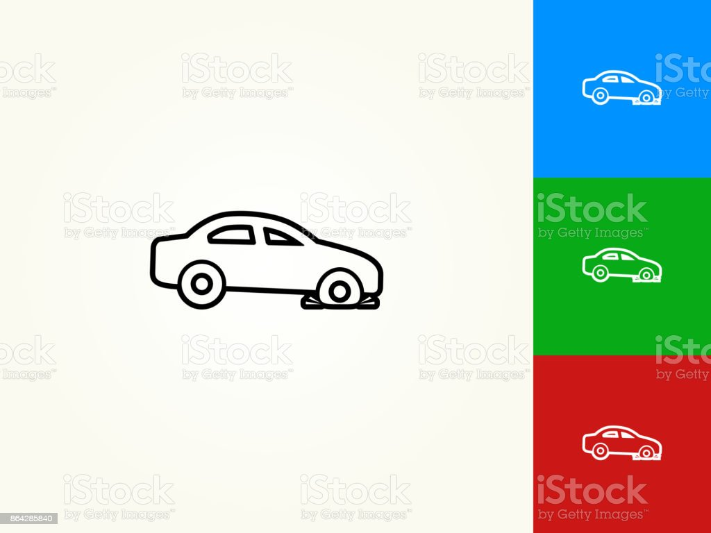 Flat Tire Black Stroke Linear Icon royalty-free flat tire black stroke linear icon stock vector art & more images of black color