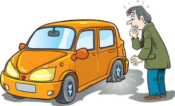 Let Spring be sprung - NOT your tires!   iCampIndiana  Flat Tires Cartoon Hands