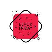 Flat trendy black friday sale banner vector design.