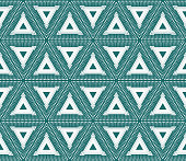 Flat Triangle Seamless Vector pattern. Fashion design print