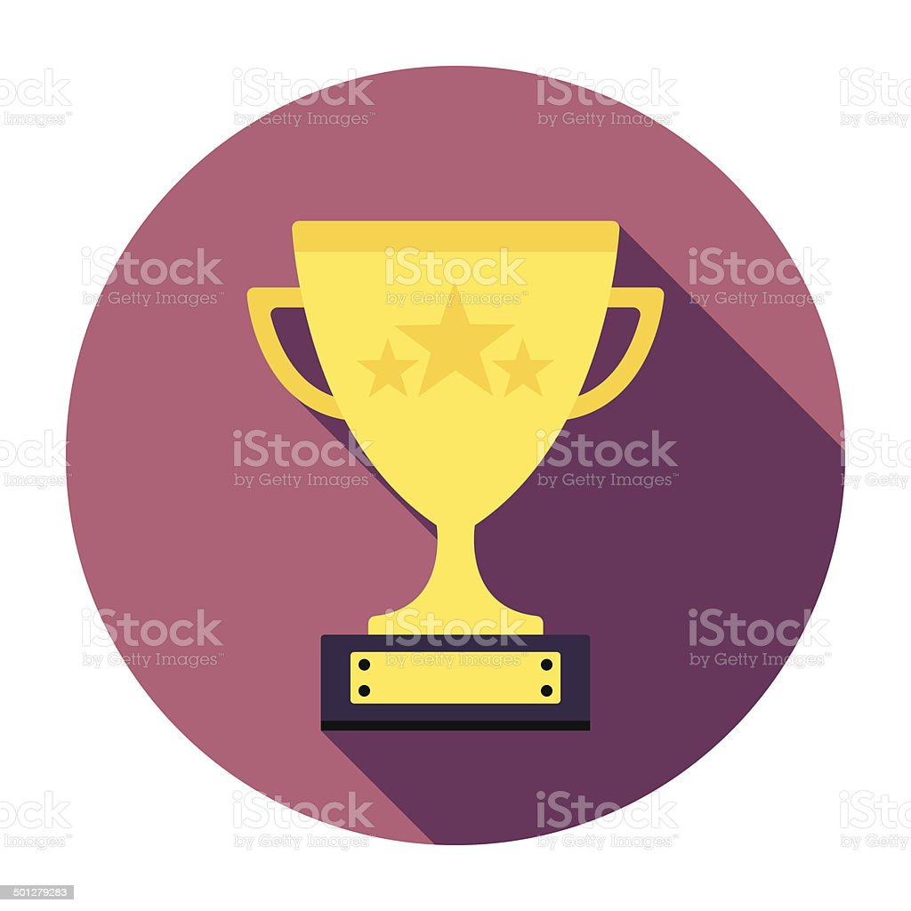 Flat Trophy Icon royalty-free stock vector art
