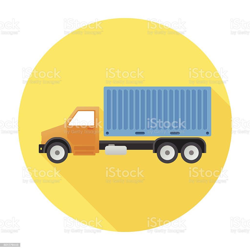Flat Truck Icon vector art illustration