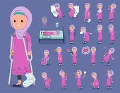 flat type Arab girl_sickness