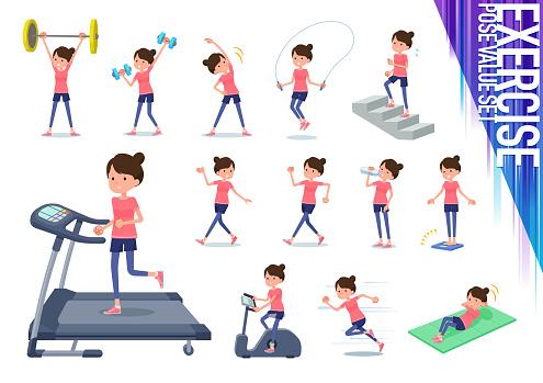 flat type Bun hair mom Sportswear_exercise