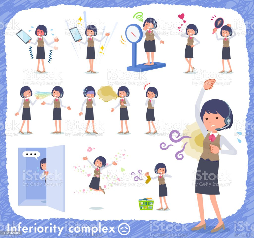 flat type Call center women_complex vector art illustration