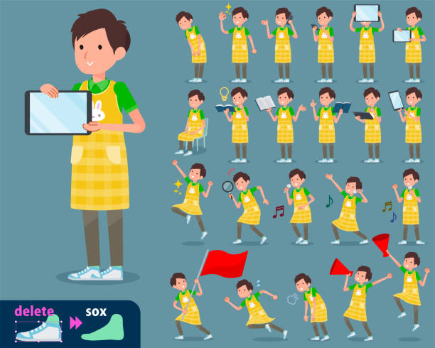 flat type Childminder men_2 flat type Childminder men_2 preschool teacher stock illustrations