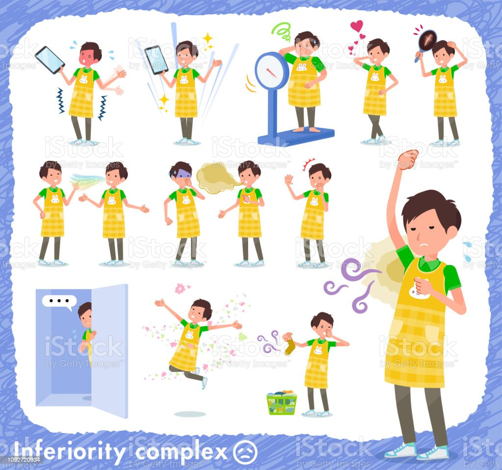 flat type Childminder men_complex vector art illustration