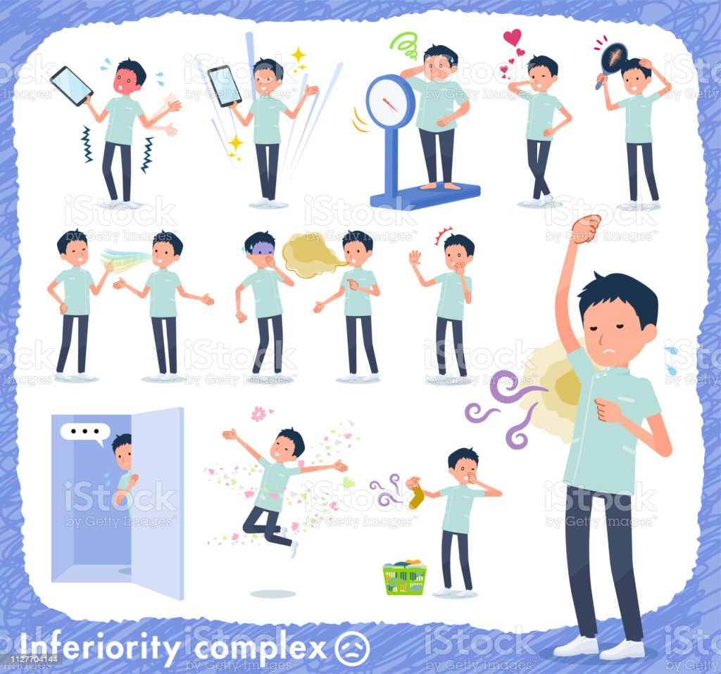 flat type chiropractor men_complex vector art illustration