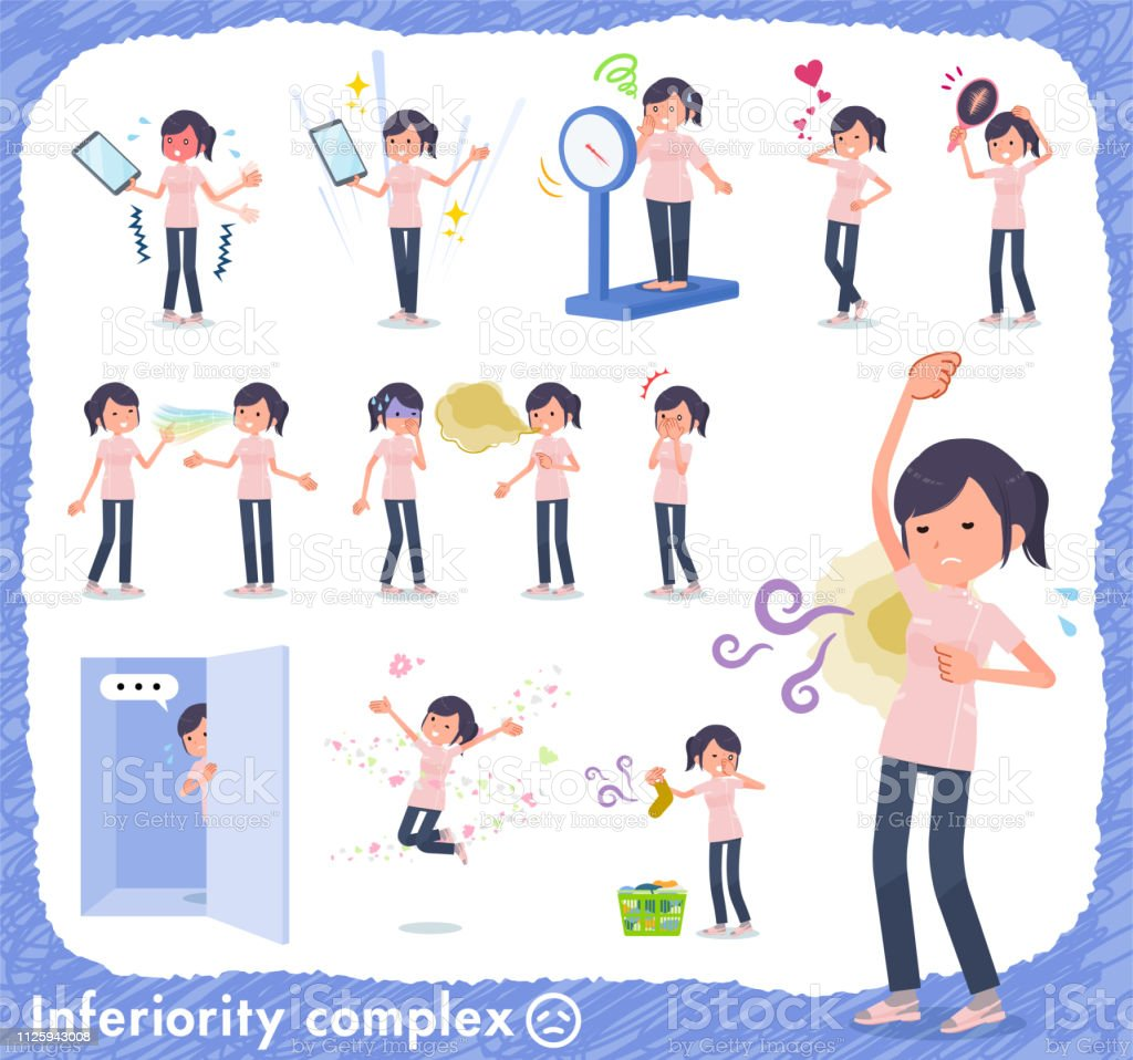 flat type chiropractor women_complex vector art illustration