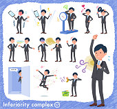 flat type Gray suit businessman_complex