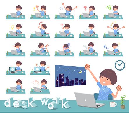 flat type Mash hair women Sportswear_desk work
