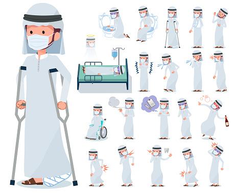 flat type mask Arab men_sickness