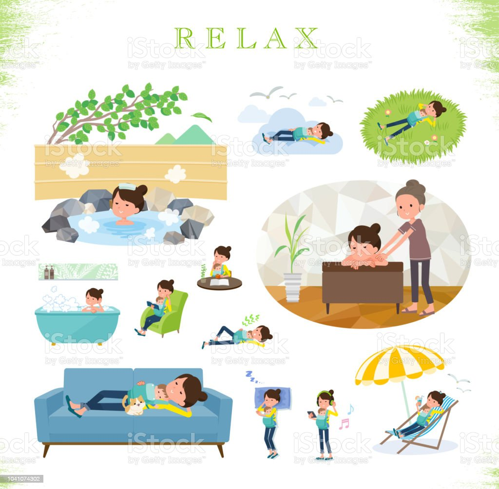 flat type Mother and baby_relax