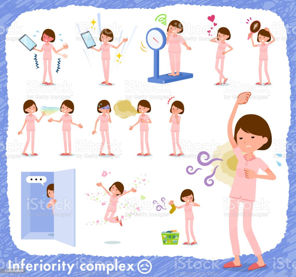 flat type patient young women_complex vector art illustration