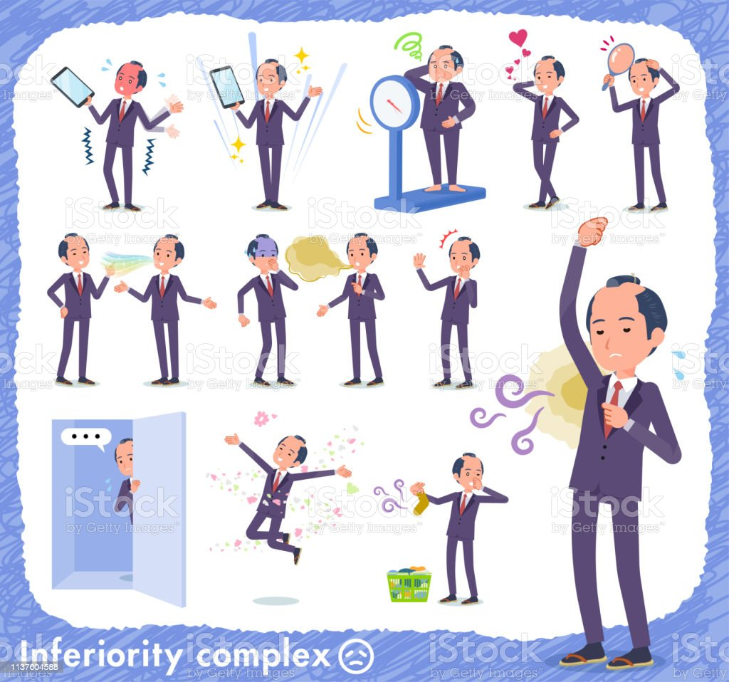 flat type samurai Businessman_complex vector art illustration