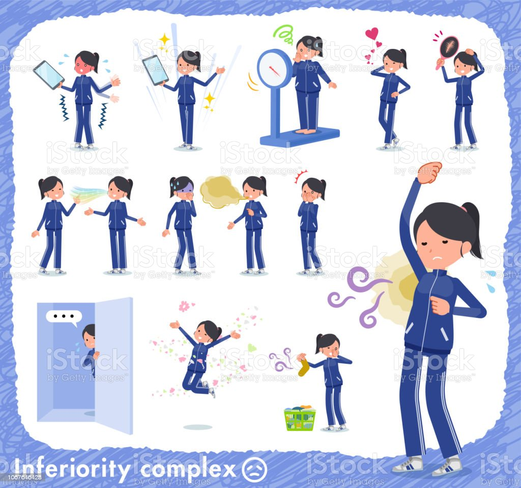 flat type school girl Blue jersey_complex