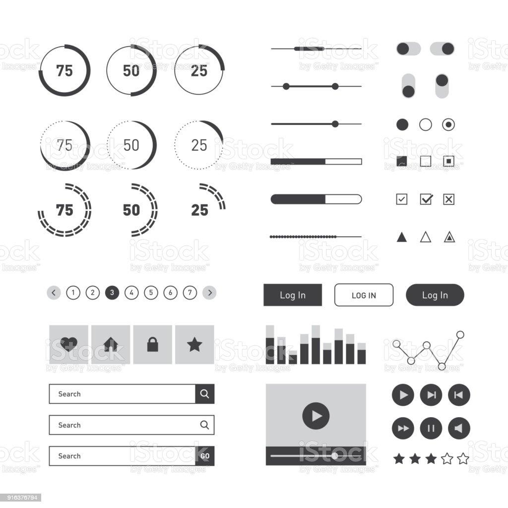 Flat UI kit template for website