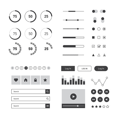 user interface elements stock illustrations