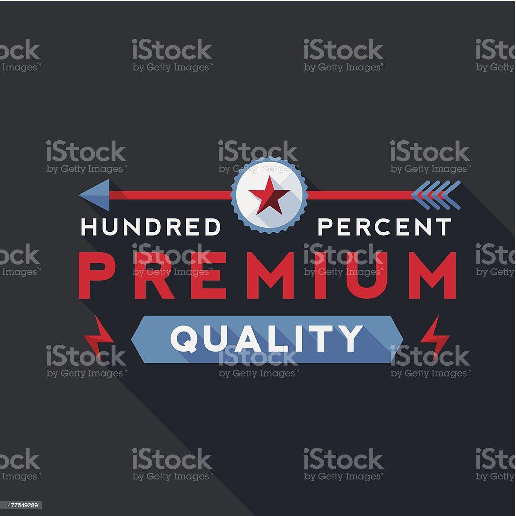 Flat UI Style Label royalty-free stock vector art