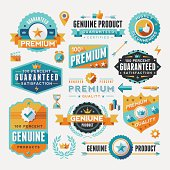 A collection of modern, flat design-styled labels and design elements. EPS 10 file, no transparencies, layered & grouped,