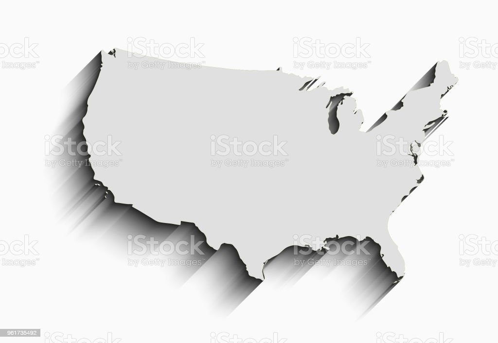 Flat Usa Map Abstract Vector Background For Wallpaper
