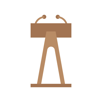 Flat vector design in icon set lectern.