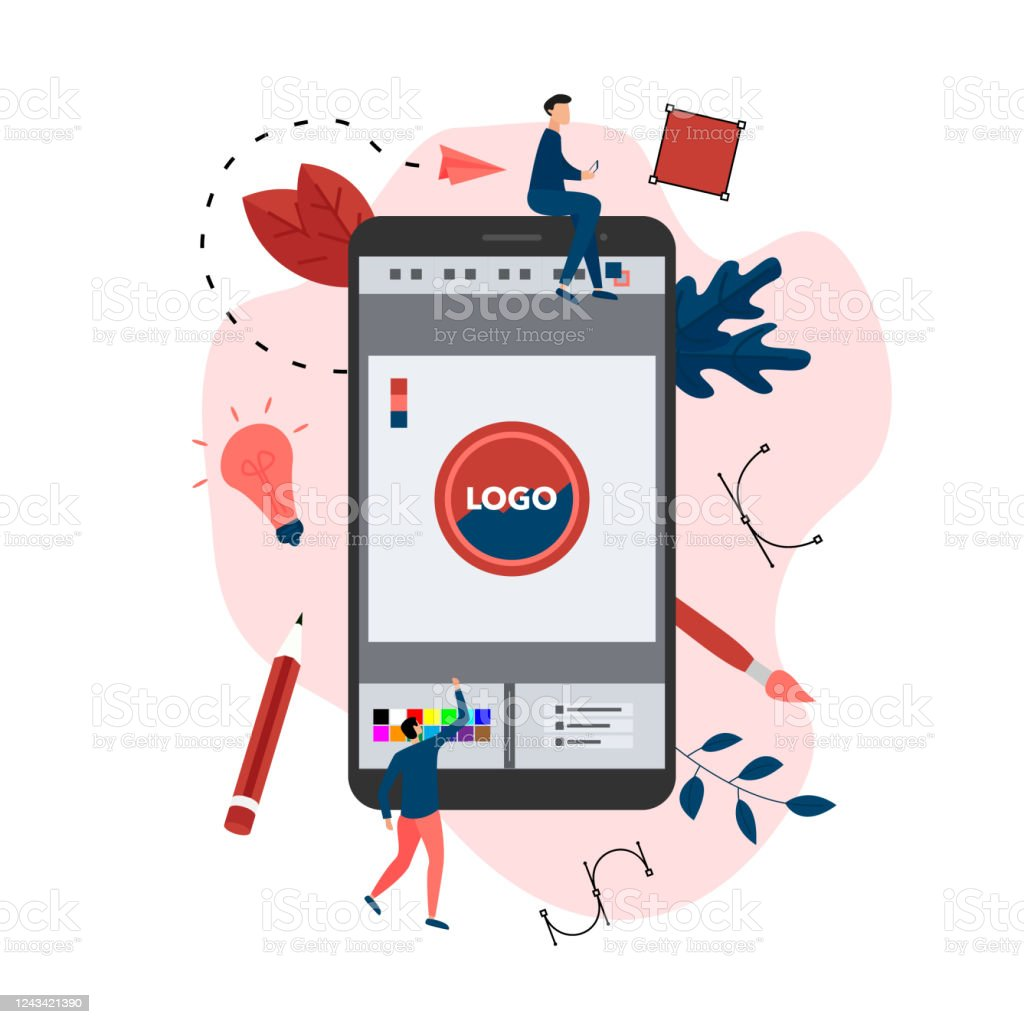 Flat Vector Graphic Design Concept With Designer With An Open Design Application With A Creative Project Stock Illustration Download Image Now Istock