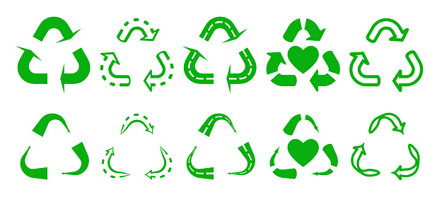 flat vector icon a reuse or recycle for apps or website