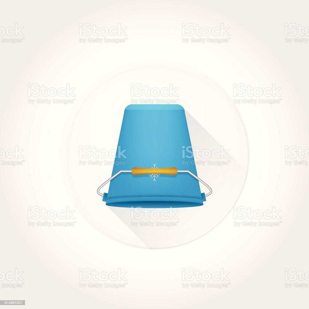 Flat vector icon for Ice Bucket Challenge. vector art illustration