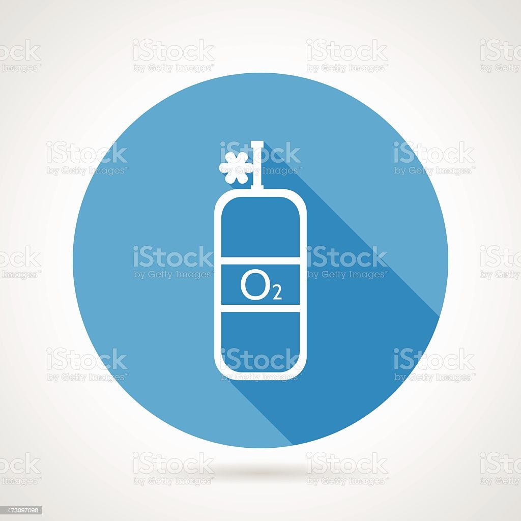 Flat vector icon for oxygen cylinder vector art illustration