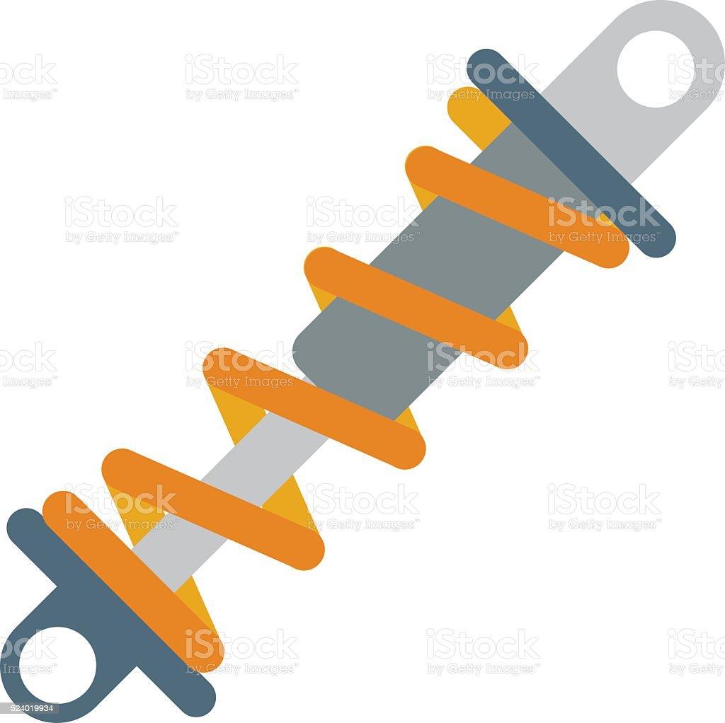 Flat vector illustration of shock absorber icon metal car damper vector art illustration