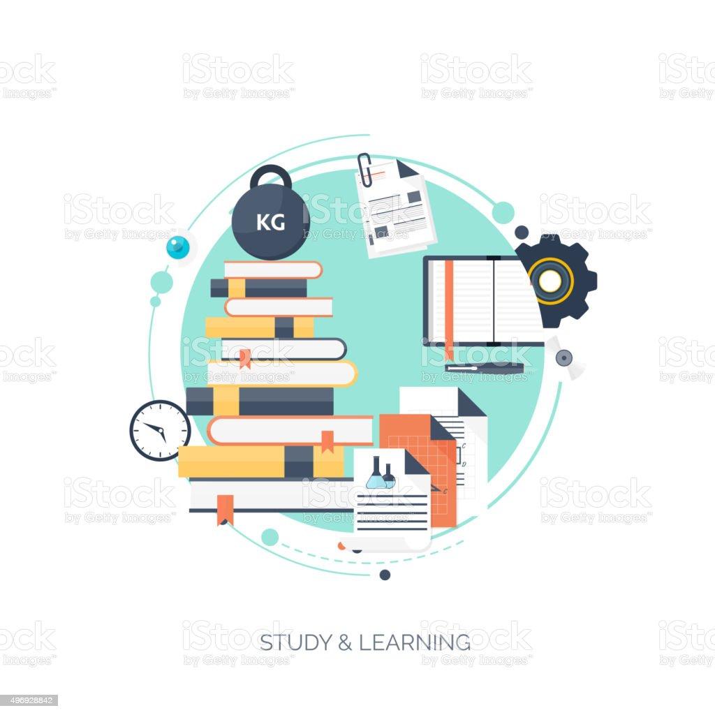 Ilustración de Flat Vector Ilustración Estudio Fondo De Concepto De ...