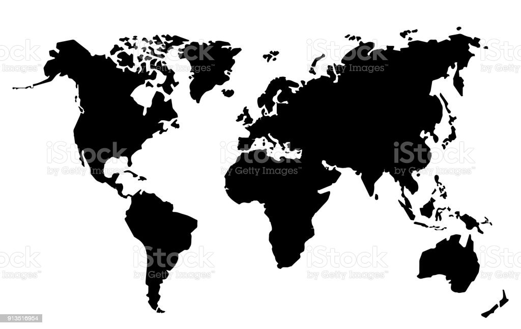 Flat vector illustration world map with details and drawn continents flat vector illustration world map with details and drawn continents royalty free flat vector illustration gumiabroncs Image collections
