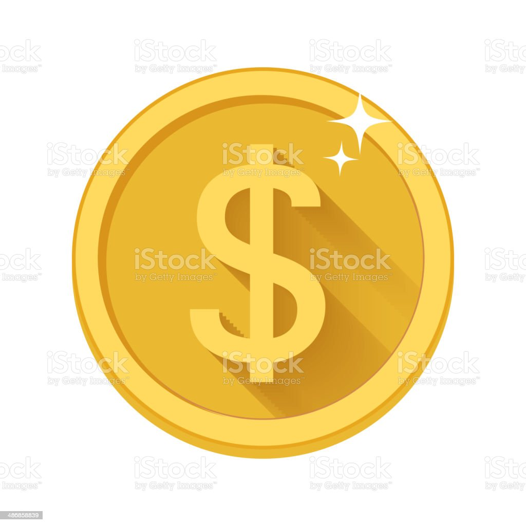 Flat vector money icon vector art illustration