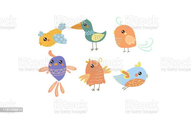 Flat vector set of cute little birds lovely creatures with small vector id1151256914?b=1&k=6&m=1151256914&s=612x612&h=rkgurmuqvjesq94isizypx39wzmeje9tpen6v8tgmb8=