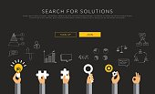 flat vector template search for solutions