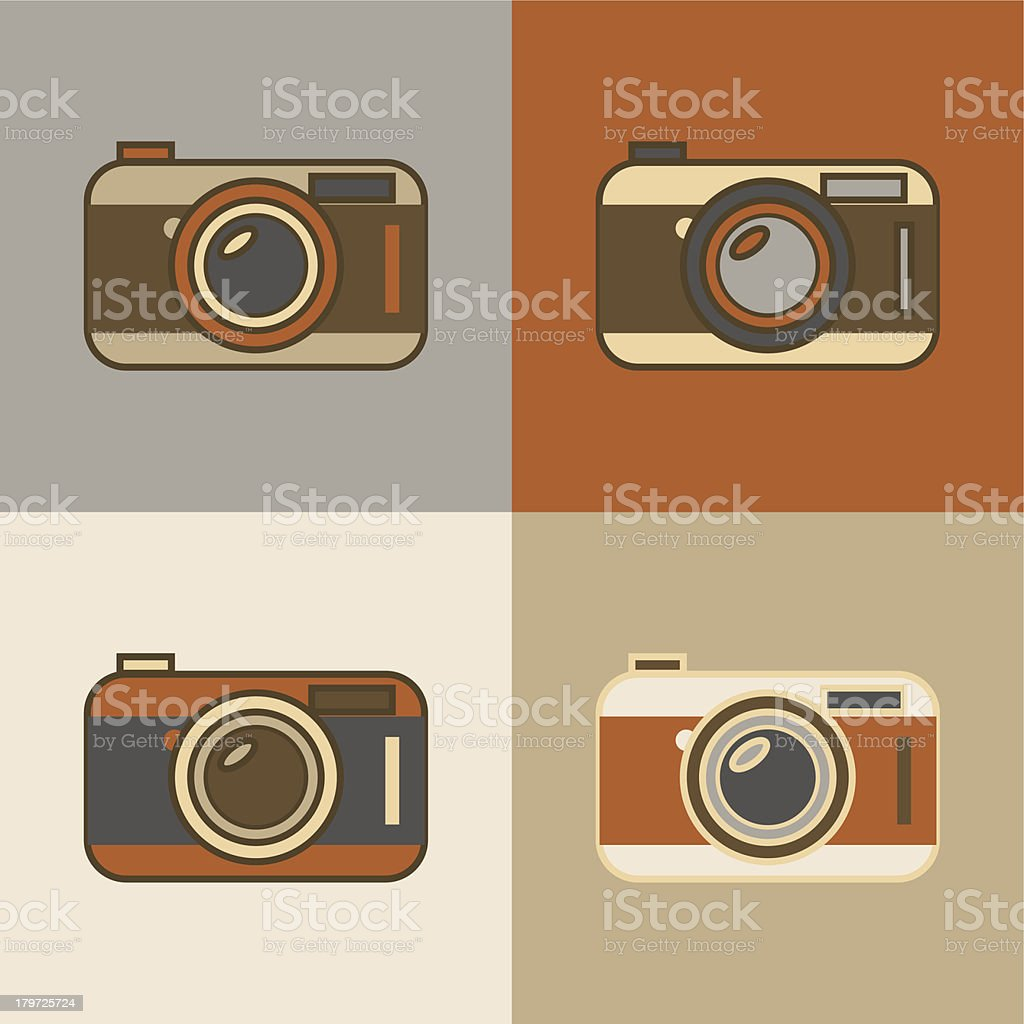 Flat vintage camera icons royalty-free flat vintage camera icons stock vector art & more images of antique