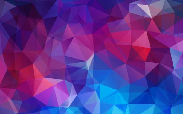 Papel pintado geométrico triángulo plano violeta - ilustración de arte vectorial